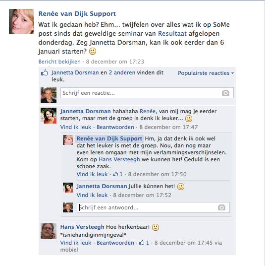 Testi Renee van dijk facebook