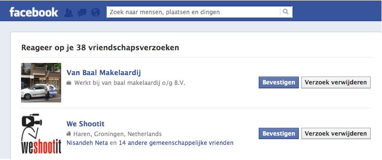 Facebook kan ik vriendjes worden met jouw bedrijf