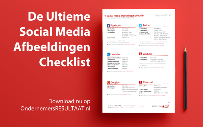 Download De Ultieme Social Media Afbeeldingen Checklist